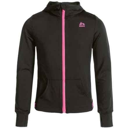 RBX High-Performance Hooded Jacket (For Little Girls) in Black - Closeouts