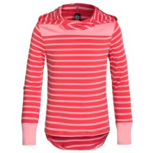 RBX High-Performance Hoodie Shirt - Long Sleeve (For Little and Big Girls) in Coral Icing - Closeouts