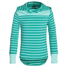 RBX High-Performance Hoodie Shirt - Long Sleeve (For Little and Big Girls) in Mint Shell - Closeouts