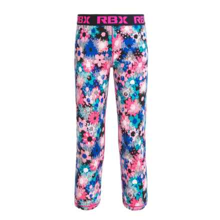 RBX High-Performance Printed Capris (For Big Girls) in Neon Ko Pink / Navy - Closeouts