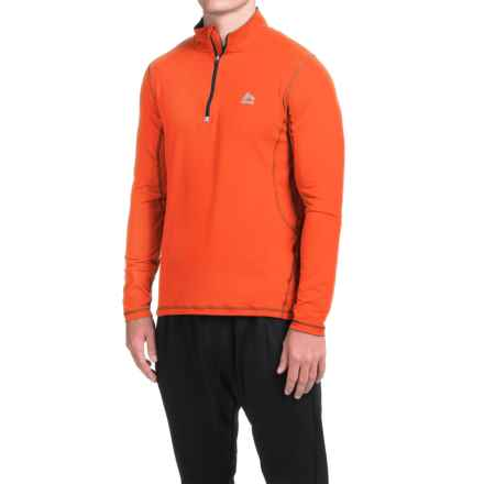 RBX High-Performance Shirt - Zip Neck, Long Sleeve (For Men) in Fireball Orange - Closeouts