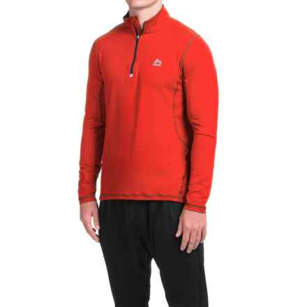 RBX High-Performance Shirt - Zip Neck, Long Sleeve (For Men) in Orange Burgundy - Closeouts