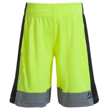 RBX High-Performance Side Stripe Shorts (For Little Boys) in Neon Yellow - Closeouts