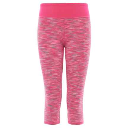 RBX High-Performance Space-Dye Capri Leggings (For Little and Big Girls) in Neon Ko Pink - Closeouts