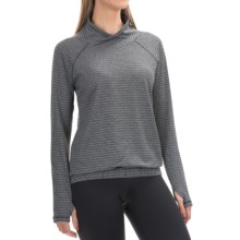 RBX Jacquard Active Shirt - Cowl Neck, Long Sleeve (For Women) in Black - Closeouts