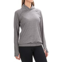 RBX Jacquard Active Shirt - Cowl Neck, Long Sleeve (For Women) in Platinum Gry - Closeouts