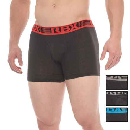 RBX Knit Boxer Briefs - 4-Pack (For Men) in Black/Black/Black - Closeouts