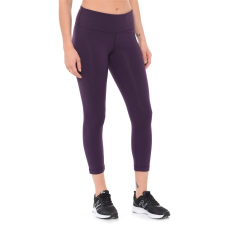 RBX LDS Crop Pants (For Women) in Eggplant/Eggplant