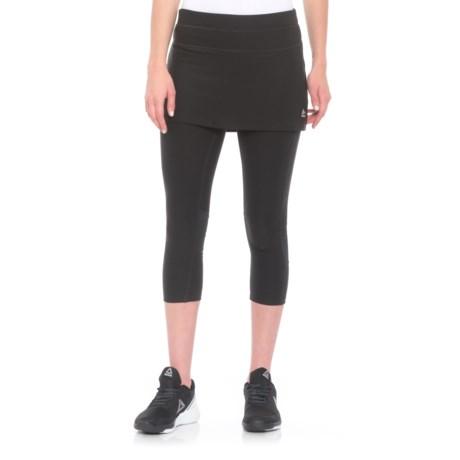 RBX LDS Skirted Capris (For Women) in Black