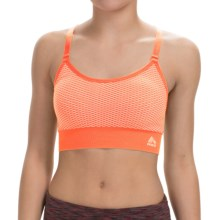 RBX Linea Seamless Sports Bra - Medium Impact (For Women) in Papaya - Closeouts