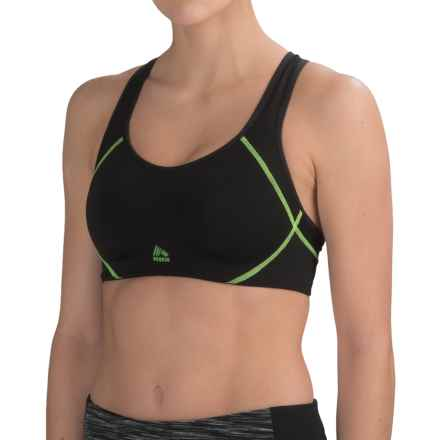 RBX Maximum Control Sports Bra - High Impact (For Women) in Black/Green - Closeouts