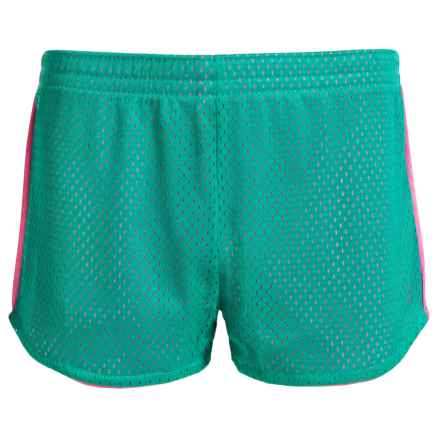 RBX Mesh Active Shorts (For Big Girls) in Jade Sprinkle - Closeouts