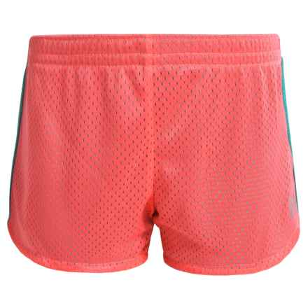 RBX Mesh Active Shorts (For Little Girls) in Hot Melon - Closeouts