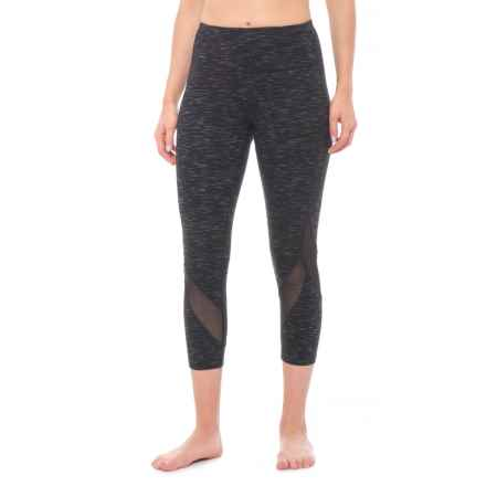 RBX Mesh Insert Capris (For Women) in Black - Closeouts