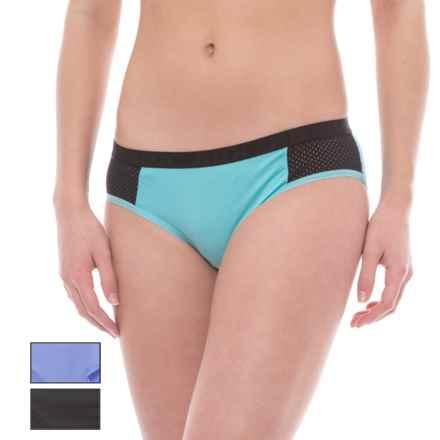 RBX Mesh Microfiber Panties -  Hipster Briefs, 3-Pack (For Women) in Hot Peri/Aquamarine/Black - Closeouts