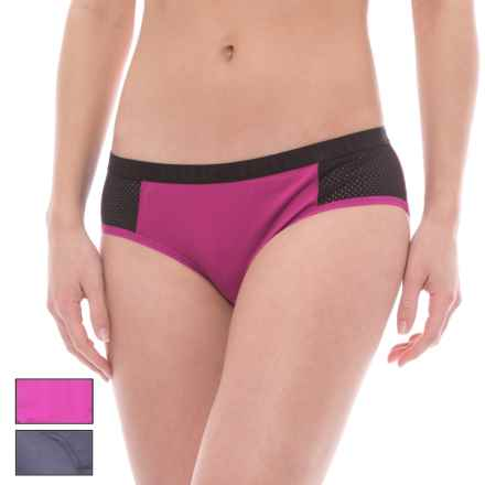 RBX Mesh Microfiber Panties -  Hipster Briefs, 3-Pack (For Women) in Slate/Orchid Rush/Cherry Pink - Closeouts