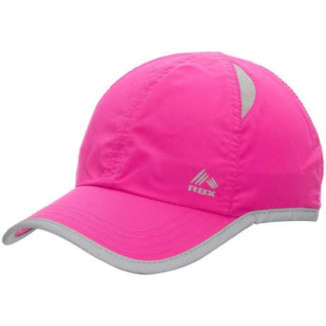 RBX Mesh Panel Baseball Cap - Touch-Fasten Adjustable (For Women) in Pink