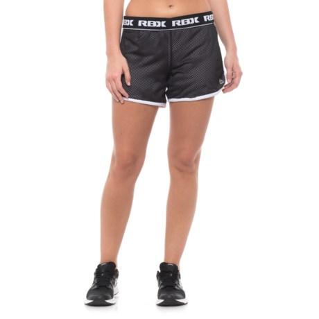 """RBX Mesh Shorts - 5"""" (For Women) in Black/White"""