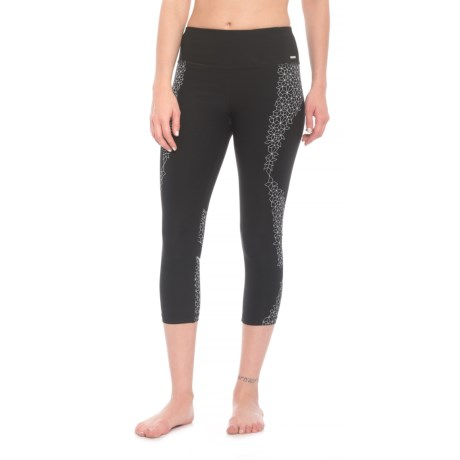 RBX Missy Silicone Print Capris (For Women) in Black/White