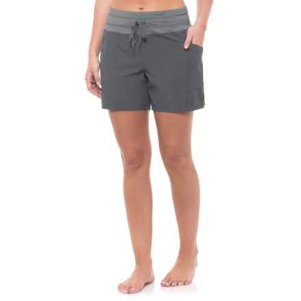 RBX Missy Stretch Woven Shorts (For Women) in Grey - Closeouts
