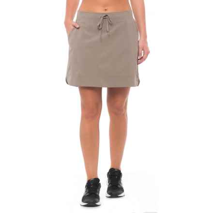 RBX Missy Stretch Woven Skorts (For Women) in Khaki - Closeouts