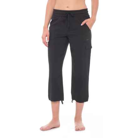 RBX Missy Woven Cargo Capris (For Women) in Black - Closeouts