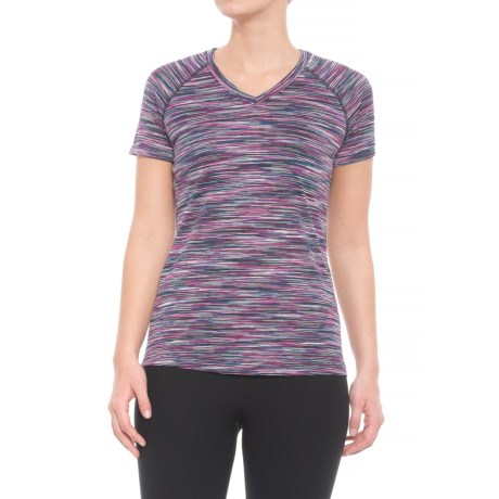 RBX Multi-Striat V-Neck Shirt - Short Sleeve (For Women)