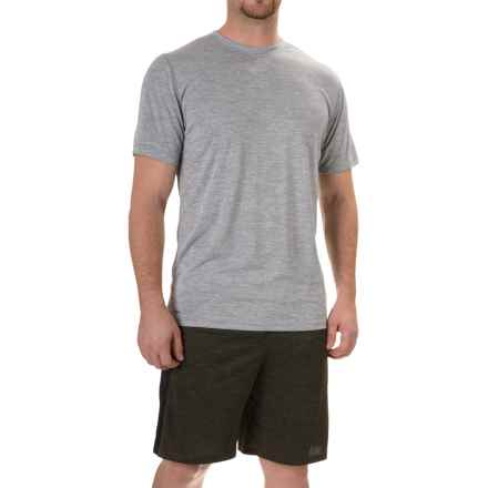 RBX Novelty Heather Jersey T-Shirt - Short Sleeve (For Men) in Grey - Closeouts