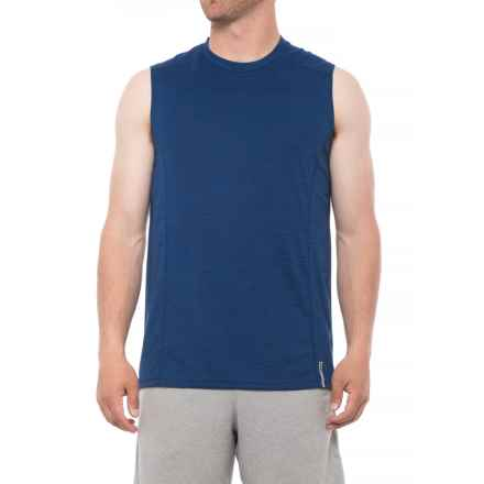 RBX Novelty Heather Muscle Tank Top (For Men) in Navy - Closeouts