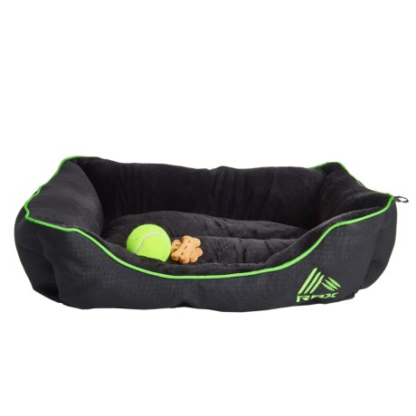 "RBX Oxford Cuddler Dog Bed - 24x18"" in Green/Black"
