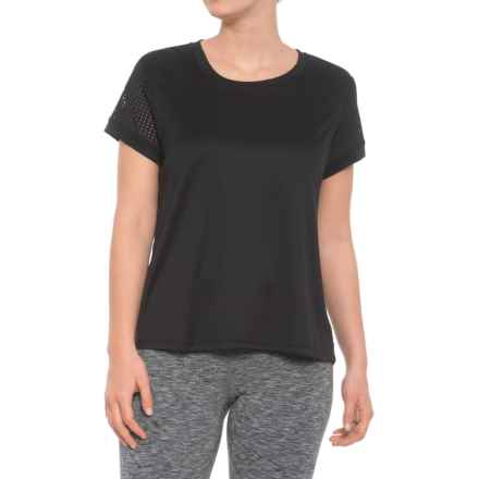 RBX Pleated Back Shirt - Short Sleeve (For Women) in Black - Closeouts