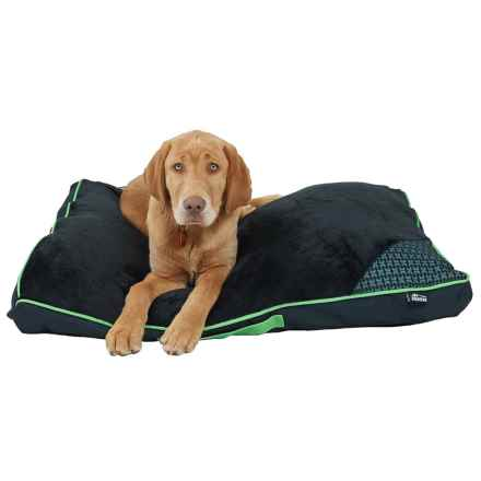 "RBX Plush Sleep Rectangular Dog Bed 36x27"" in Green/Black - Closeouts"