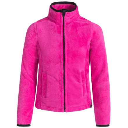 RBX Plush Zip-Front Jacket (For Little Girls) in Pink Glow - Closeouts
