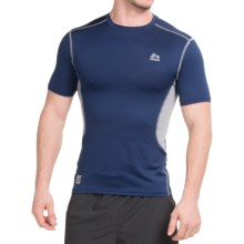 RBX Poly Span T-Shirt - Short Sleeve (For Men) in Navy/Silver - Closeouts