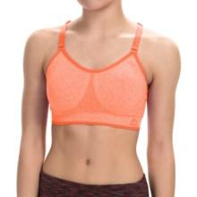 RBX Prime Seamless Sports Bra - Medium Impact (For Women) in Papaya Heather - Closeouts