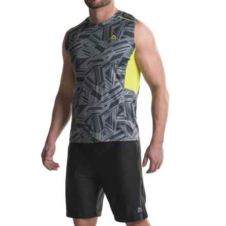 RBX Print Shirt - Sleeveless (For Men) in Grey Stone/Lemon Twist - Closeouts