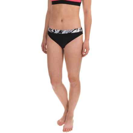 RBX Printed Band Bikini Bottoms (For Women) in Black - Closeouts