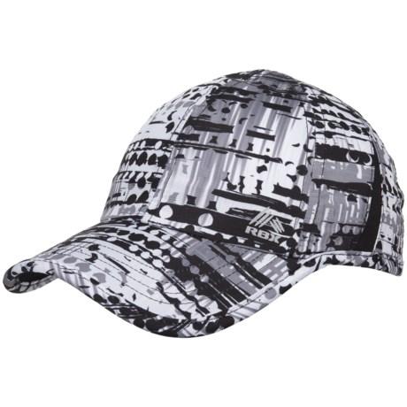RBX Printed Baseball Cap (For Women) in Black/White