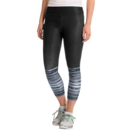 RBX Printed Capri Leggings (For Women) in Black - Closeouts