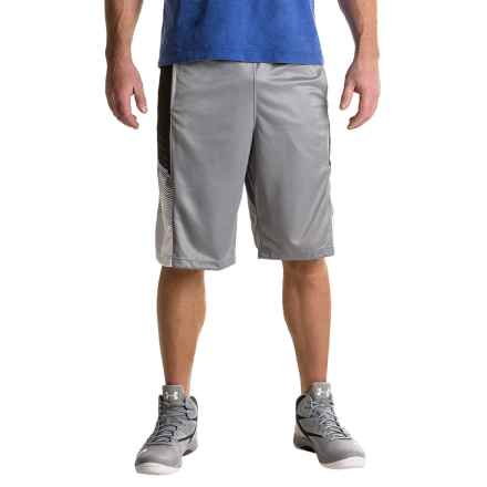 """RBX Printed Interlock Basketball Shorts - 11.5"""" (For Men) in Silver - Closeouts"""