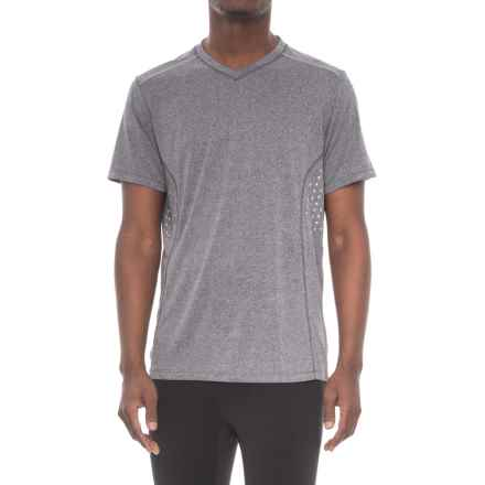 RBX Printed Reflective Insert Shirt - V-Neck, Short Sleeve (For Men) in Charcoal - Closeouts