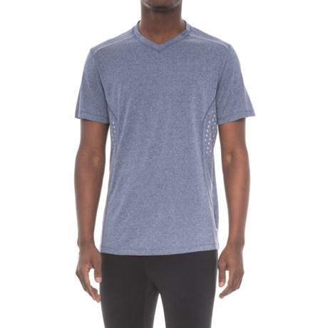 RBX Printed Reflective Insert Shirt - V-Neck, Short Sleeve (For Men) in Navy