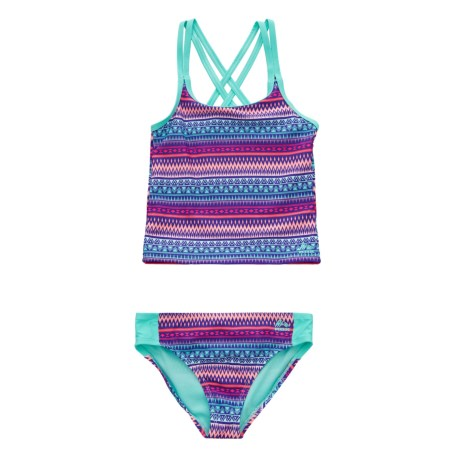 RBX Printed Tankini Set - Brief Bottoms (For Girls)
