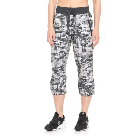 RBX Printed Woven Capris (For Women) in Grey Combo