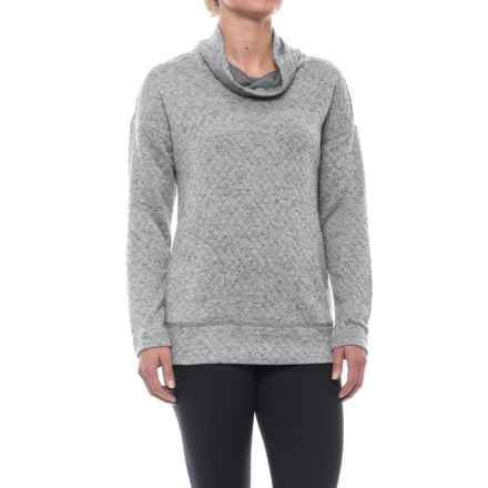 RBX Quilted Funnel Neck Sweatshirt (For Women) in Plat Grey - Closeouts
