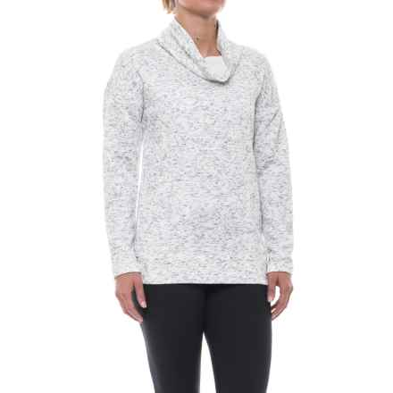 RBX Quilted Funnel Neck Sweatshirt (For Women) in White - Closeouts