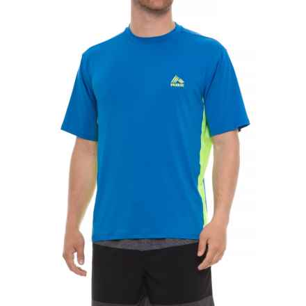 RBX Rash Guard - Short Sleeve (For Men) in Blue - Closeouts