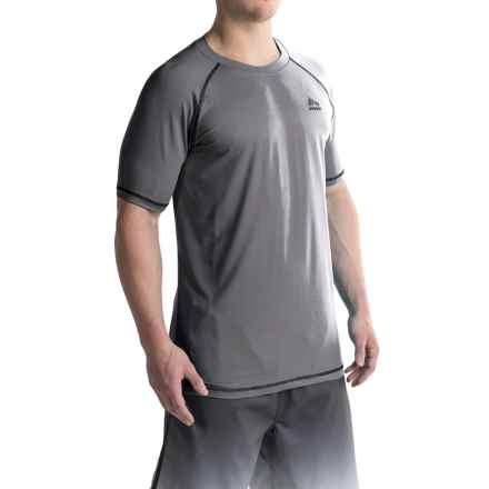 RBX Rash Guard - Short Sleeve (For Men) in Gray - Closeouts