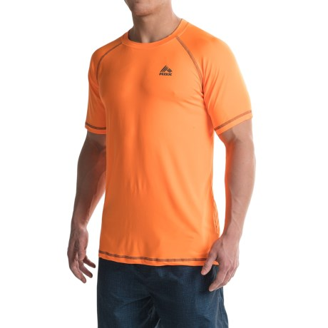 RBX Rash Guard - Short Sleeve (For Men) in Orange