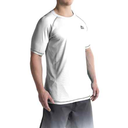 RBX Rash Guard - Short Sleeve (For Men) in White - Closeouts